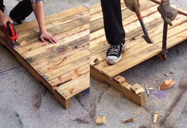 Lumber Nails To Stencil Designs On Furniture